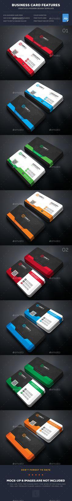 Business Card Template PSD Bundle
