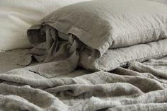 Linen duvet cover and 2 pillowcase linen bedding by mooshop
