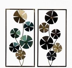 2 Piece Geo Circles Sculpture Wall Decor Set