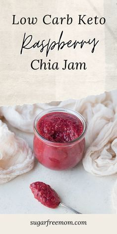 This easy, 6 ingredient low carb, keto raspberry chia jam takes very little time to prepare and is perfect on low carb, keto toast or keto bagels or even drizzled over keto ice cream! Keto Bagels, Keto Ice Cream, Low Carb Keto, Raspberry, Recipes, Recipies, Raspberries, Ripped Recipes, Cooking Recipes
