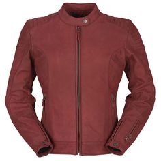 Products Motorbike Leathers, Motorcycle Jacket, Textiles, Bordeaux, Leather Jacket, Zip, Jackets, Products, Fashion