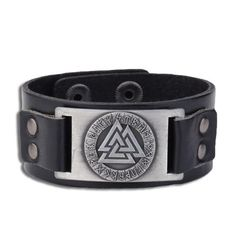 Wicca Jewelry Odin 24 Norse Runes Slavic Amulet Sigil Gothic Viking Adjustable Vintage Wristband Cuff Leather Bracelet (Antique silver,Black) >>> Do hope that you like our image. (This is our affiliate link) Viking Ring, Bracelet Viking, Viking Jewelry, Gothic Jewelry, Cowgirl Jewelry, Metal Jewelry, Boho Jewelry, Jewelry Necklaces, Cheap Bracelets