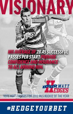 Visionary - Hedges for Rookie of the Year campaign poster 2012 player for FC Dallas in MLS
