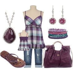 """purple plaid"" by danyellefl01 on Polyvore"