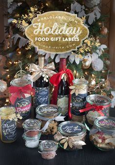 Free printable labels for your holiday food gifts.. by @liag