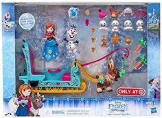 Disney Frozen Little Kingdom Anna & Friends Sleigh Ride Playset - KyrStore Disney Olaf, Disney Toys, Disney Jr, Disney Princess Fashion, Disney Princess Dolls, Justice Toys, Kids Toy Shop, Disney Frozen Birthday, Moana Birthday
