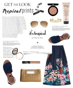 """""""Hot Tropics"""" by glamorous09 ❤ liked on Polyvore featuring Oasis, Miguelina, MICHAEL Michael Kors, Bobbi Brown Cosmetics, Odeme, Stella & Dot, Tory Burch, Ray-Ban, philosophy and NARS Cosmetics"""
