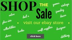 Shop the sales going on in our Ebay store....click photo for details.....