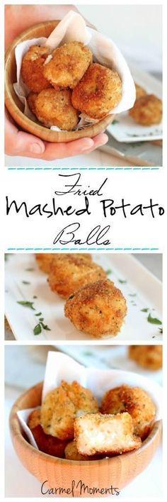 Fried Mashed Potato Balls -Tasty mashed potato balls. Fried balls stuffed with homemade mashed potatoes. Crunchy outside, creamy inside.