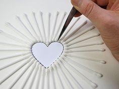 50 mother 39 s day crafts you can make yourself string art. Black Bedroom Furniture Sets. Home Design Ideas