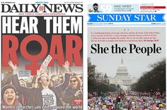 Here's How Newspapers Around The World Covered The Women's March