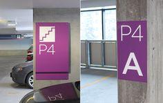 Bayshore Parking Garage - Wayfinding signage