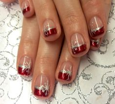 102 festive and easy christmas nail art designs you must try page 37 Fingernail Designs, Toe Nail Designs, Nail Polish Designs, Nails Design, Design Design, Xmas Nails, Holiday Nails, Christmas Manicure, French Nails