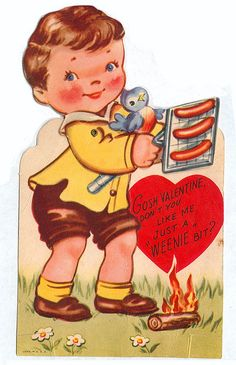Hot Dog valentine by pageofbats, via Flickr