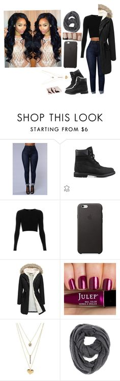"""""""Untitled #1157"""" by girlie-kendrick ❤ liked on Polyvore featuring Timberland, Topshop, Charlotte Russe, Paula Bianco, women's clothing, women, female, woman, misses and juniors"""