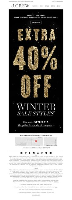 J.Crew - 3, 2, 1...extra 40% off winter sale styles is on
