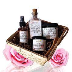 ORGANIC GIFT Basket Organic Spa Set Beauty Gift by ScentualAroma