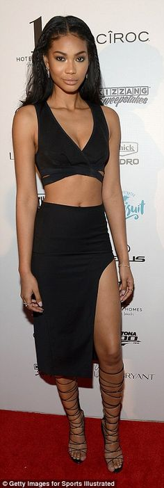 Showing some skin: The swimsuit model had her incredible body on display...
