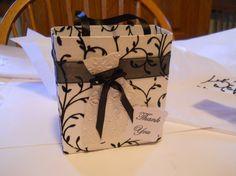 Elegant black and white dress bag by steppnout on Etsy, $3.50