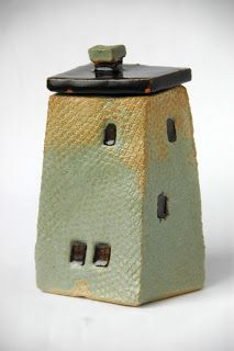 small ceramic house-box