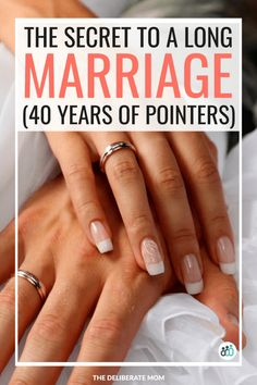 What's the secret to a long marriage? Here is some essential marriage advice from a couple with 40 years of pointers! Longest Marriage, Best Marriage Advice, Marriage Goals, Healthy Marriage, Strong Marriage, Happy Marriage, Healthy Relationships, Relationship Advice, Fierce Marriage