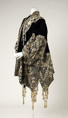 Dolman (image 2) | House of Worth | French | 1905-1910 | wool, metallic thread | Metropolitan Museum of Art | Accession Number: 49.3.13