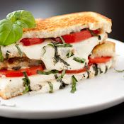 Caprese Grilled Cheese - served this with pasta fagioli soup, yummy winter dinner.