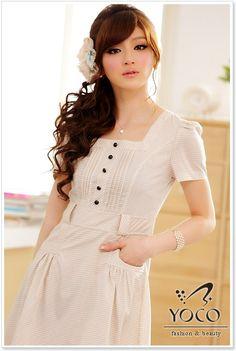 Wholesale Womens Dress J8203 Apricot