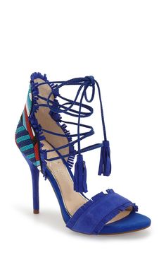 Jessica Simpson 'Basanti' Fringe Lace-Up Sandal (Women) | Nordstrom