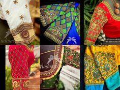20 Beautiful Work Blouse Designs For Silk Sarees! Wedding Saree Blouse Designs, Pattu Saree Blouse Designs, Saree Wedding, Stone Work Blouse, Aari Work Blouse, Blouse Designs Catalogue, New Blouse Designs, Saree Look, Embroidered Silk