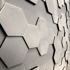 LUV Living a Unique Vision // Hexagonal Wall Candy Design Panneau Mural 3d, Wall Candy, 3d Panels, Wall Finishes, Wall Cladding, Wall Patterns, Wall Treatments, 3d Wall, Cork Wall