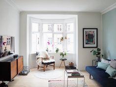 Johanna's dreamy Copenhagen living room. Love the Scandinavian style with boho touch.  - Nørrebro Summers | Lily.fi