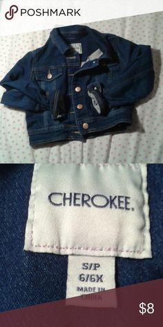 Cherokee denim jacket Denim girls jacket.   Soft stretch material.   Good quality. Cherokee Jackets & Coats Jean Jackets