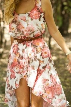Floral Summer Dress. I would totally pair this with a leather jacket