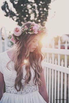 Blomster i håret! så fint
