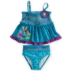 c4c0bb93acd87 Anna and Elsa Tankini Swimsuit for Girls - 2-Piece NTS: Need to buy