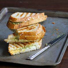 Pesto Grilled Cheese recipe