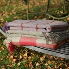 Shetland Wool Throw - Grey/Red Check | Susie Watson Designs