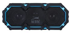 The Altec Lansing Life Jacket BLuetooth Speaker, which is waterproof, tough, loud, and just amazing.