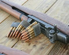 """Garand - with actual bullet clips (not """"clips"""" intending to say magazines) M1 Garand, Battle Rifle, Survival Weapons, Fire Powers, Home Defense, Hunting Rifles, Cool Guns, Military Weapons, Guns And Ammo"""