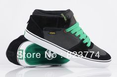 shoes black and grenn