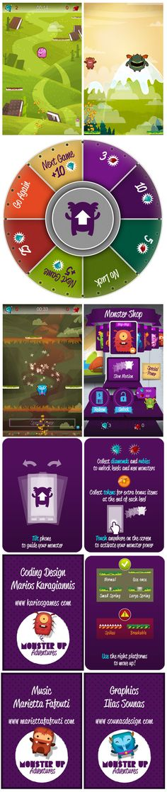 :::MonsterUp Adventures - Game Graphics::: by Ilias Sounas, via Behance