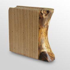 6 in. Beige Wood Book