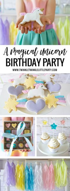 Hello, friends! I am so excited to share fun Unicorn birthday party ideas with you today! I have been meaning to do this theme for a while and the gorgeous invitation design inspired me not to wait…