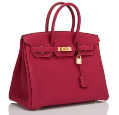 Lovely brand new Birkin in Rubis Togo leather.