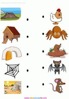 Hayvanları Eşleştirme Çalışma Kağıdı English Activities For Kids, Animal Activities For Kids, English Worksheets For Kids, English Lessons For Kids, Preschool Learning Activities, Kids Learning, Preschool Activity Books, Farm Animals Preschool, Preschool Math Games