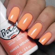 "Brighten up your hump day like @aliensuvorova with ""Mango Mousse"", an almost neon orange shade that's a perfect base for fun nail art."