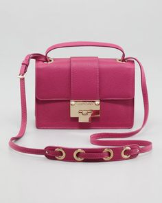 Rebel Leather Crossbody Bag, Purple by Jimmy Choo at Neiman Marcus.