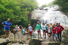 North Carolina Waterfall Hike, via www.rockbrookcamp.com
