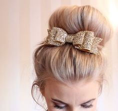 Oversized Glitter Hair Bow - hats, hairpieces & hair clips
